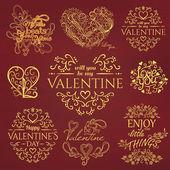 Éléments de la Saint-Valentin — Vecteur
