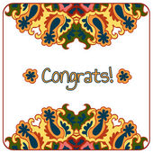 Congrats card — Stock Vector