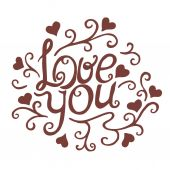 Love you ornament — Stock Vector