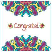 Congrats card. — Stock Vector