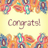 Congrats card. — Stock Vector