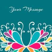 Congrats floral card — Stock Vector