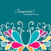 Congrats Abstract card — Stock Vector