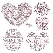 Valentine's Day set — Stock Vector