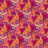 Patrones sin fisuras con flores abstractas — Vector de stock