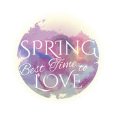 Spring best time to Love — Vettoriale Stock