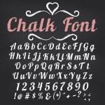 Chalk font on blackboard background — Stock Vector #65919695