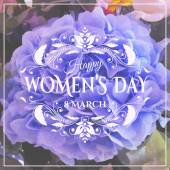 Gelukkig vrouwen dag achtergrond — Stockvector