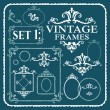 Vintage frames with floral pattern — Stock Vector #71005437