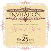 Invitation card design — Stock Vector
