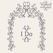 Wedding Altar and I Do — Stock Vector