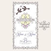 Invitation design template — Vettoriale Stock