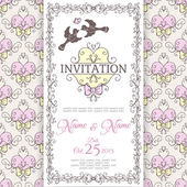 Invitation design template — Stock Vector