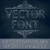 Vintage font with calligraphic design element. — Stock Vector