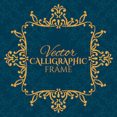 Calligraphic vintage frame — Stock Vector