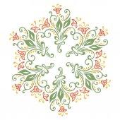 Cadre avec fleurs abstraites — Vecteur