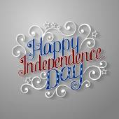 Happy Independence Day lettering — Stock Vector