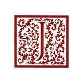Fonte floral do j letra — Vetor de Stock