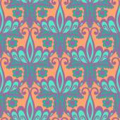Seamless with vintage floral pattern — Stock Vector