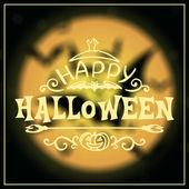 Mutlu Cadılar Bayramı mesajı tasarım — Stok Vektör