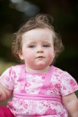 Baby Girl in Park — Stock Photo