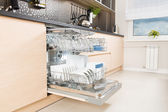 Dishwasher after cleaning process. — Stock Photo