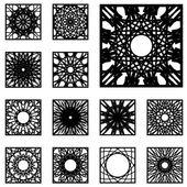 Square Ornament Set — Stock Vector