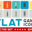 Vector flat game icons — Stock Vector #54787867