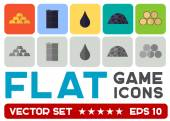 Vector flat game icons — Stock Vector