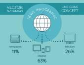 News flat infographic — Stock Vector