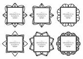 Ornamental frame set — Vector de stock