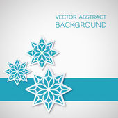 Origami paper decorative banner — Stock Vector