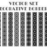 Vector decorative borders — Stock Vector #60062813
