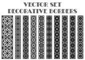 Vector decorative borders — Stock Vector