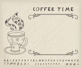 Coffee Vector Vintage Background — Stockvector