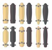 Skateboards and Longboards — Stock Vector