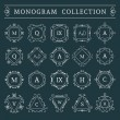 Vector vintage monogram set — Stock Vector #73658501