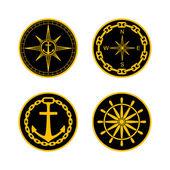 Naval Badges — Stock Vector