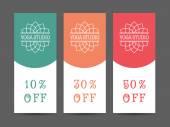 Yoga Studio Vector Discount Coupon Template — Stock Vector