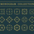 Vector vintage monogram set — Stock Vector #76471835
