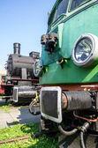 Two locomotives — Stock Photo