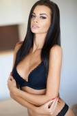 Gorgeous sexy tanned woman in her lingerie — Stock Photo