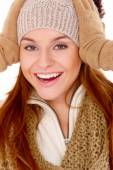 Vivacious woman in winter fashion — Stock Photo