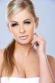 Gorgeous sexy blond woman — Stock Photo