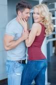 Romantic Pretty Young Couple Photo Shoot — Foto de Stock