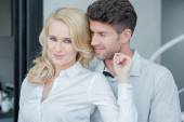 Lovers in White Long Sleeves Attire Fashion Shoot — Stock Photo