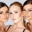 Close up Pretty Young Women Faces — Stock Photo #55970527