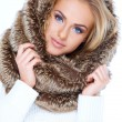 Gorgeous blue eyed woman in winter fashion — Stock Photo #58218151
