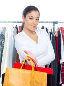 Woman Shopping at the Department Store — Stock Photo