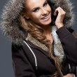 Woman in Jacket with Furry Hood — Stock Photo #60468031